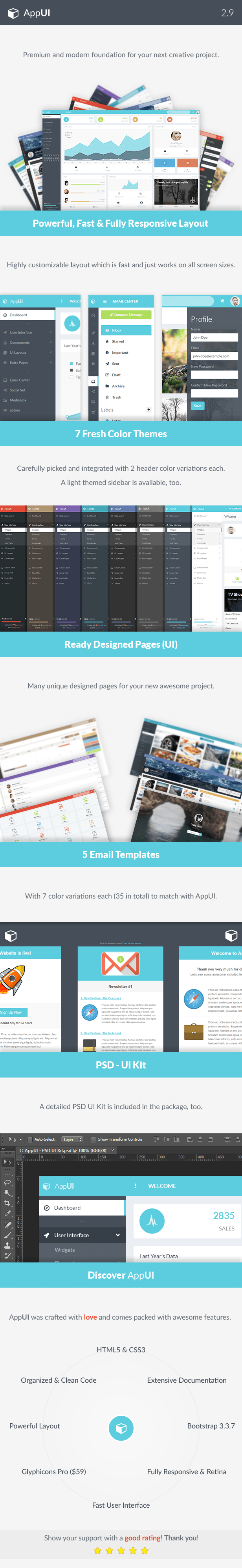 AppUI - Web App Bootstrap Admin Template - 8